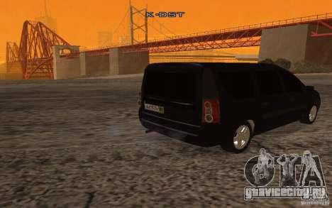 Лада Ларгус для GTA San Andreas вид справа