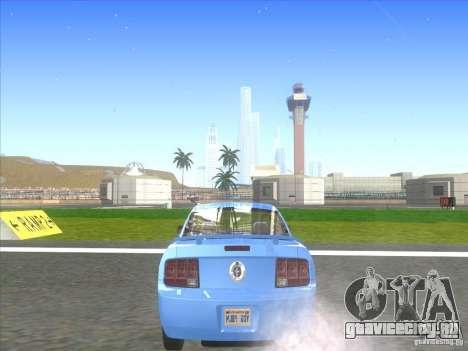 Ford Mustang Pony Edition для GTA San Andreas вид сзади слева