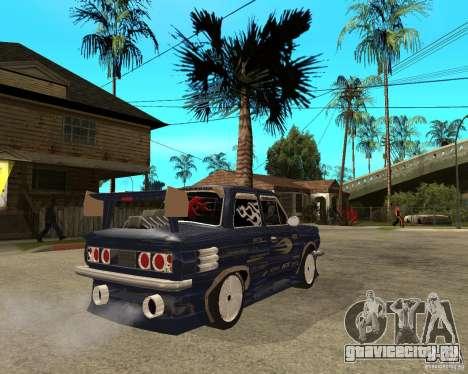 ЗАЗ - 968м STREET tune для GTA San Andreas вид сзади слева