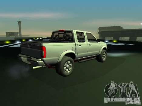 Nissan Frontier для GTA San Andreas вид сзади слева