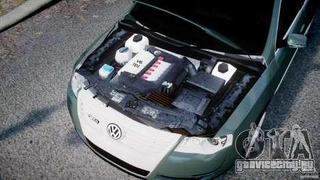 Volkswagen Passat Variant R50 для GTA 4 вид изнутри