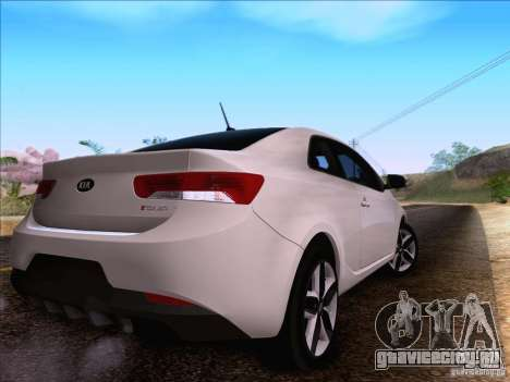 Kia Forte Koup SX для GTA San Andreas вид сзади