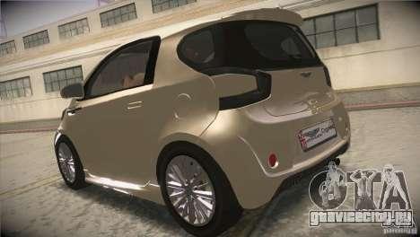Aston Martin Cygnet 2010 V2.0 для GTA San Andreas вид сзади слева