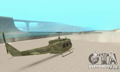 UH-1 Iroquois (Huey) для GTA San Andreas вид слева