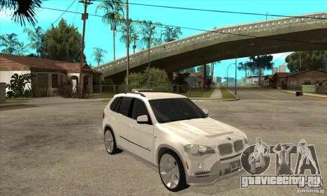 BMW X5 E70 Tuned для GTA San Andreas вид сзади