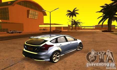 Ford Focus 3 для GTA San Andreas вид сзади слева