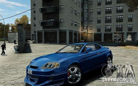 Hyundai Tuscani для GTA 4 вид справа