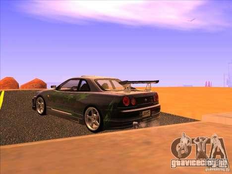 Nissan Skyline R34 Tunable для GTA San Andreas вид слева