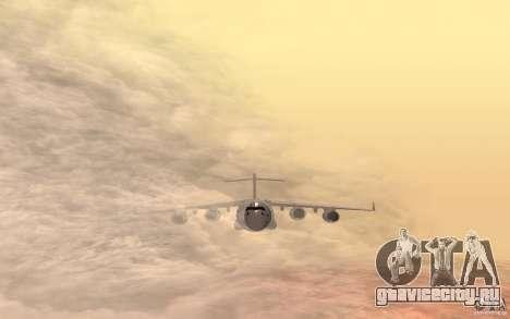 C-17 Globemaster III для GTA San Andreas вид сзади слева