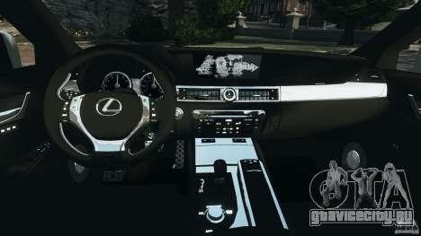Lexus GS350 2013 v1.0 для GTA 4 вид сзади