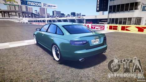 Audi RS6 2009 для GTA 4 вид сзади слева