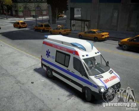 Mercedes-Benz Sprinter Azerbaijan Ambulance v0.2 для GTA 4 вид справа