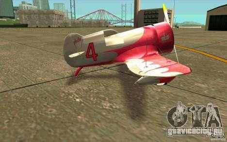 GeeBee typeZ для GTA San Andreas вид сзади слева