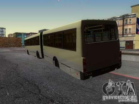 ЛАЗ-А291 для GTA San Andreas вид изнутри