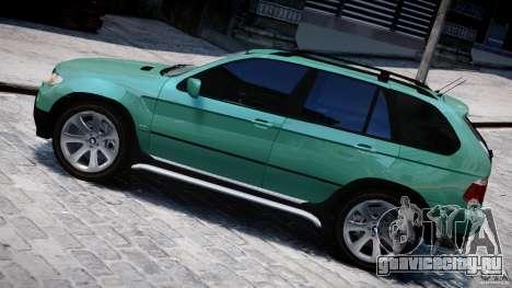 BMW X5 E53 v1.3 для GTA 4 вид слева