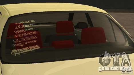 Toyota Corolla Tuned для GTA San Andreas вид сзади слева