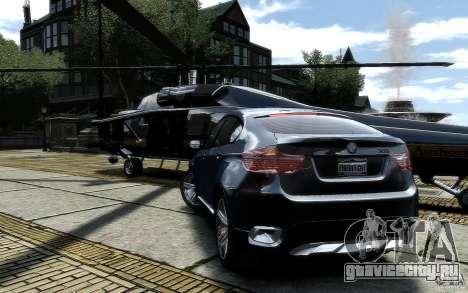BMW X6 для GTA 4 вид сзади слева