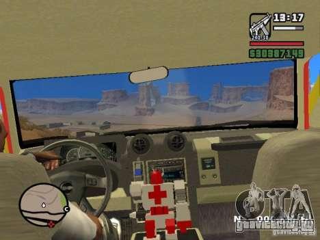 HZS Hummer H2 для GTA San Andreas вид сзади