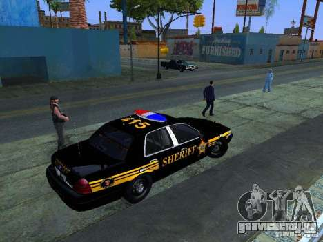 Ford Crown Victoria Erie County Sheriffs Office для GTA San Andreas вид сзади слева