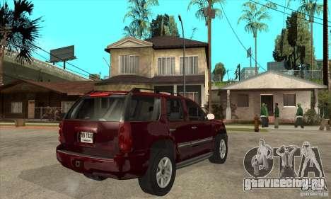 GMC Yukon 2008 для GTA San Andreas вид справа