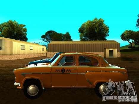 Москвич 403 Такси для GTA San Andreas вид слева
