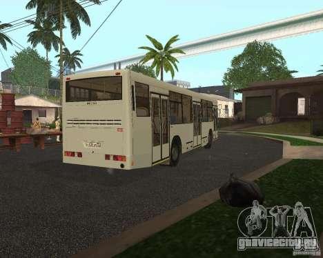 НефАЗ 5299 для GTA San Andreas вид сзади слева