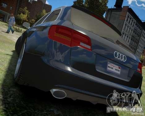 Audi A6 Avant Stanced для GTA 4 вид сзади слева