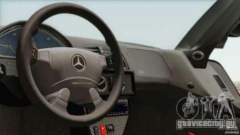 Mercedes-Benz CLK GTR Race Car для GTA San Andreas вид изнутри