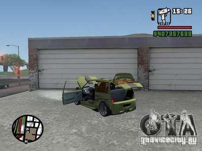 ОКА 1111 (Тюнинг) для GTA San Andreas вид сзади слева
