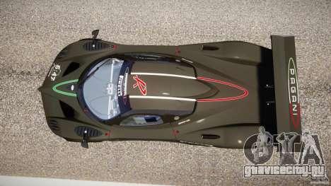 Pagani Zonda R 2009 для GTA 4 вид сзади