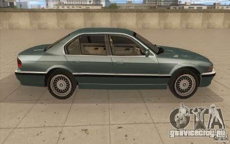 BMW 750iL 1995 для GTA San Andreas вид изнутри