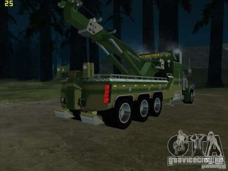 Peterbilt 379 Wrecker для GTA San Andreas вид сзади