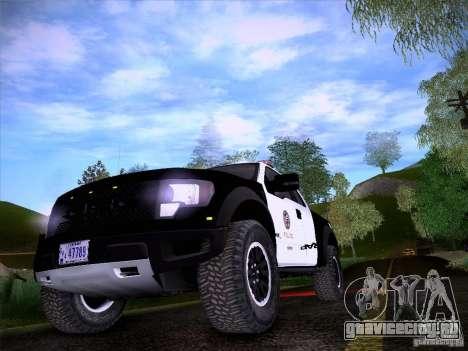 Ford Raptor Police для GTA San Andreas вид изнутри
