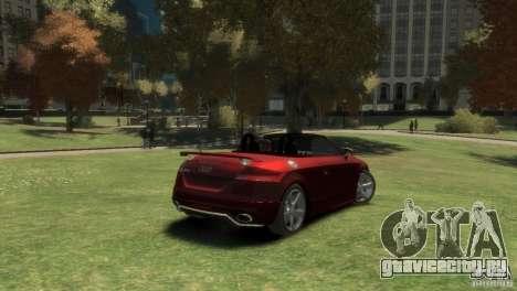 Audi TT RS Roadster для GTA 4 вид сзади слева