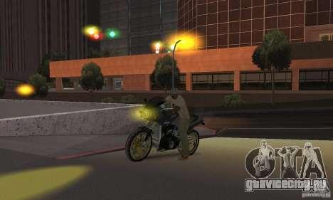 Жёлтый цвет фар для GTA San Andreas четвёртый скриншот