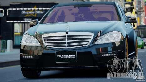 Mercedes-Benz S Class W221 Black Bison 2009 для GTA 4 вид сзади слева