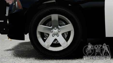 Dodge Charger 2013 Police Code 3 RX2700 v1.1 ELS для GTA 4 вид сзади