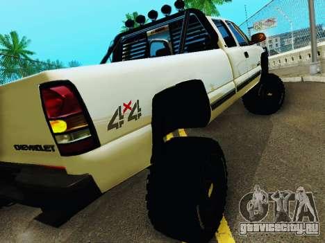 Chevrolet Silverado 2500HD 2001 для GTA San Andreas вид справа