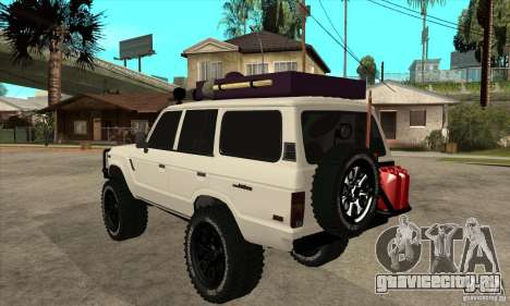 Toyota Land Cruiser 70 1993 Off Road Samurai для GTA San Andreas вид сзади слева