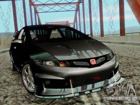 Honda Civic TypeR Mugen 2010 для GTA San Andreas вид сзади слева