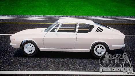 Audi 100 Coupe S для GTA 4 вид изнутри
