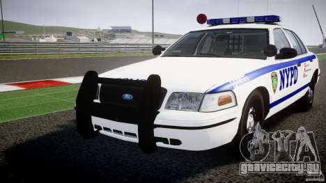 Ford Crown Victoria NYPD [ELS] для GTA 4 вид сверху
