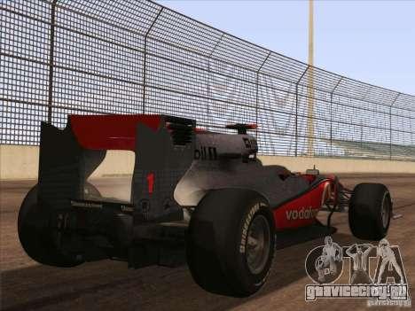 McLaren MP4-25 F1 для GTA San Andreas вид слева