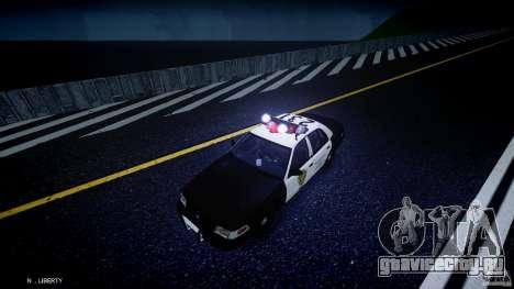 Ford Crown Victoria Raccoon City Police Car для GTA 4 вид сверху