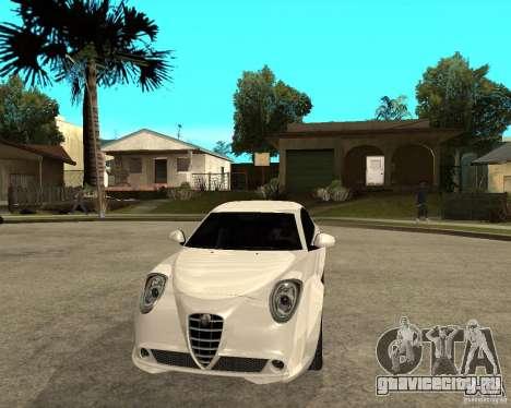 Alfa Romeo Mito для GTA San Andreas вид сзади