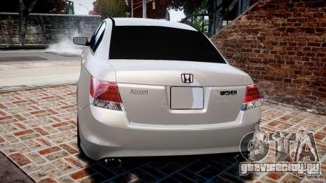 Honda Accord 2009 для GTA 4 вид сзади слева