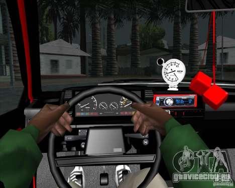 ВАЗ 2109 Drift для GTA San Andreas вид изнутри