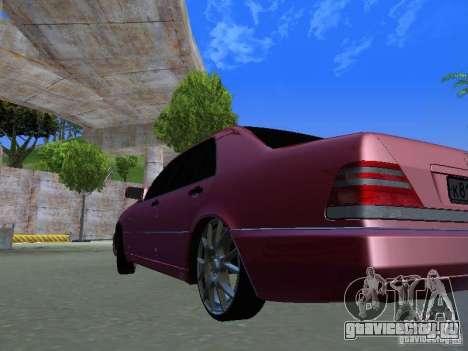 Mercedes-Benz S600 W140 v 2.0 для GTA San Andreas вид сзади