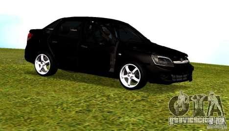 Лада Гранта v2.0 для GTA San Andreas вид изнутри