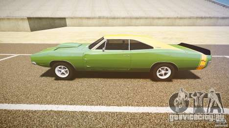 Dodge Charger RT 1969 tun v1.1 для GTA 4 вид изнутри
